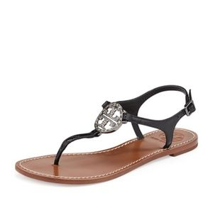 Tory Burch Violet Thong Sandals Embellished 9.5